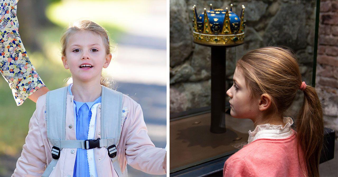 Prinsessan Estelle har börjat drottningskolan.