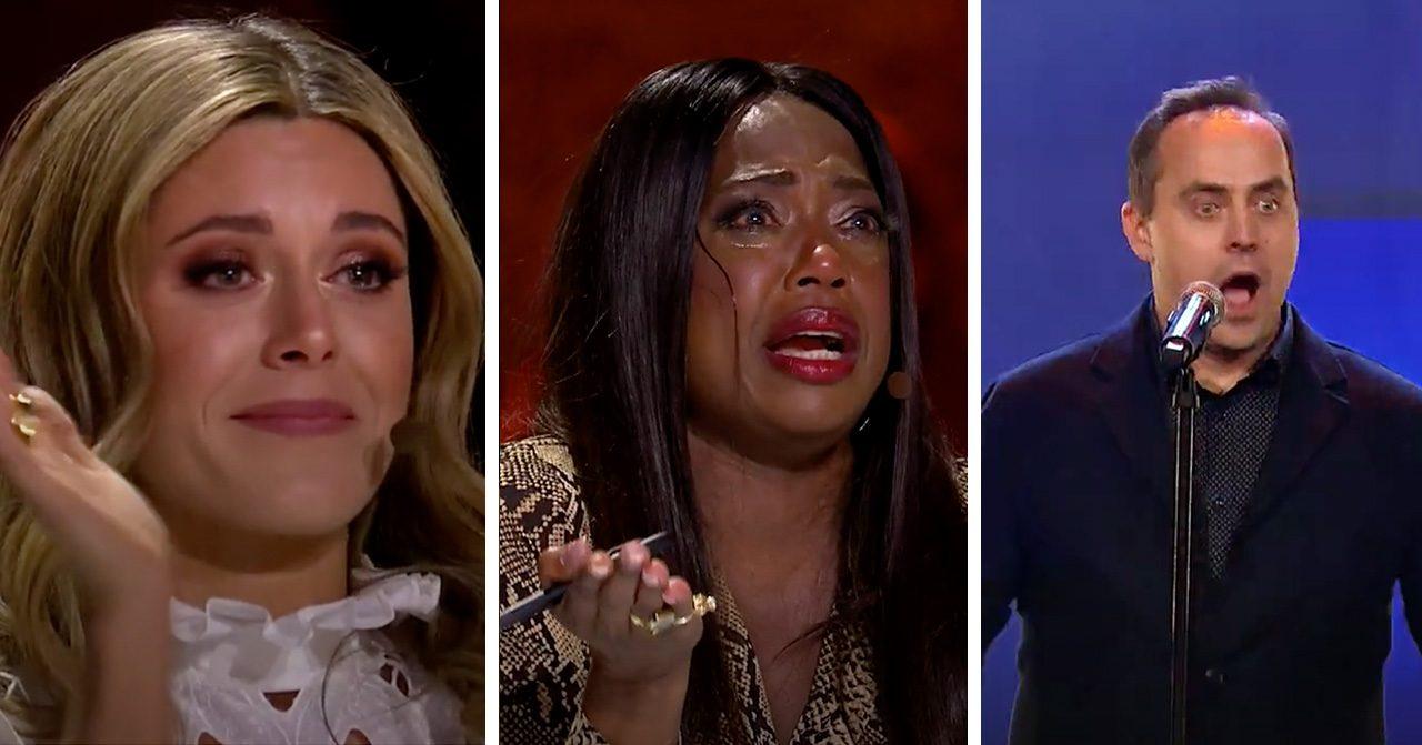 LaGaylia Frazier och Bianca ingrosso i tårar efter Micke, 46, sång i Talang