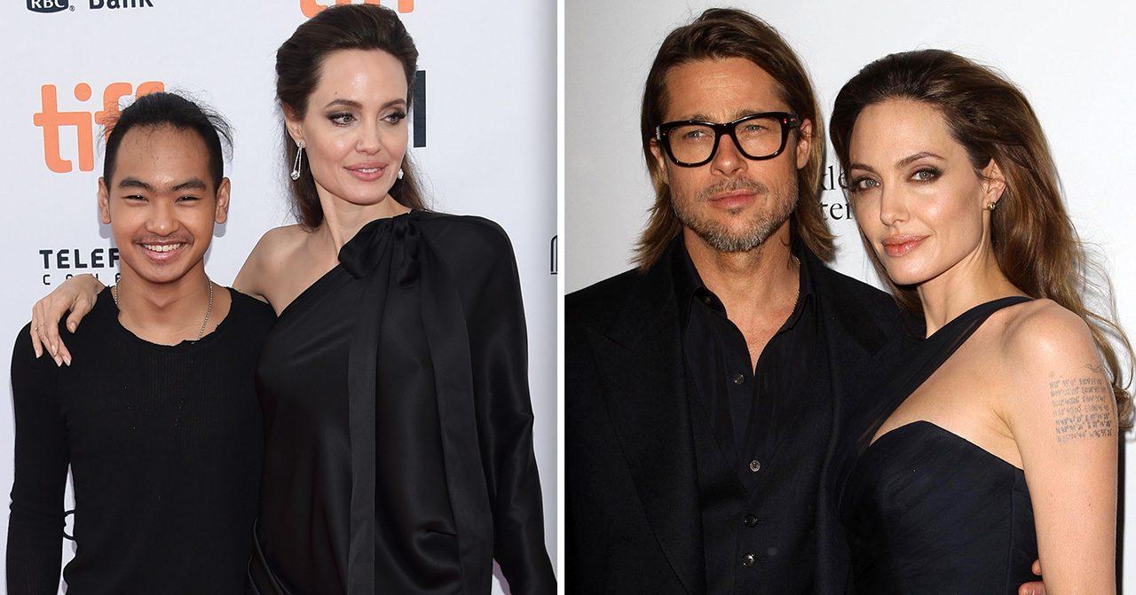 Maddox Jolie-Pitt med föräldrarna Angelina Jolie och Brad Pitt