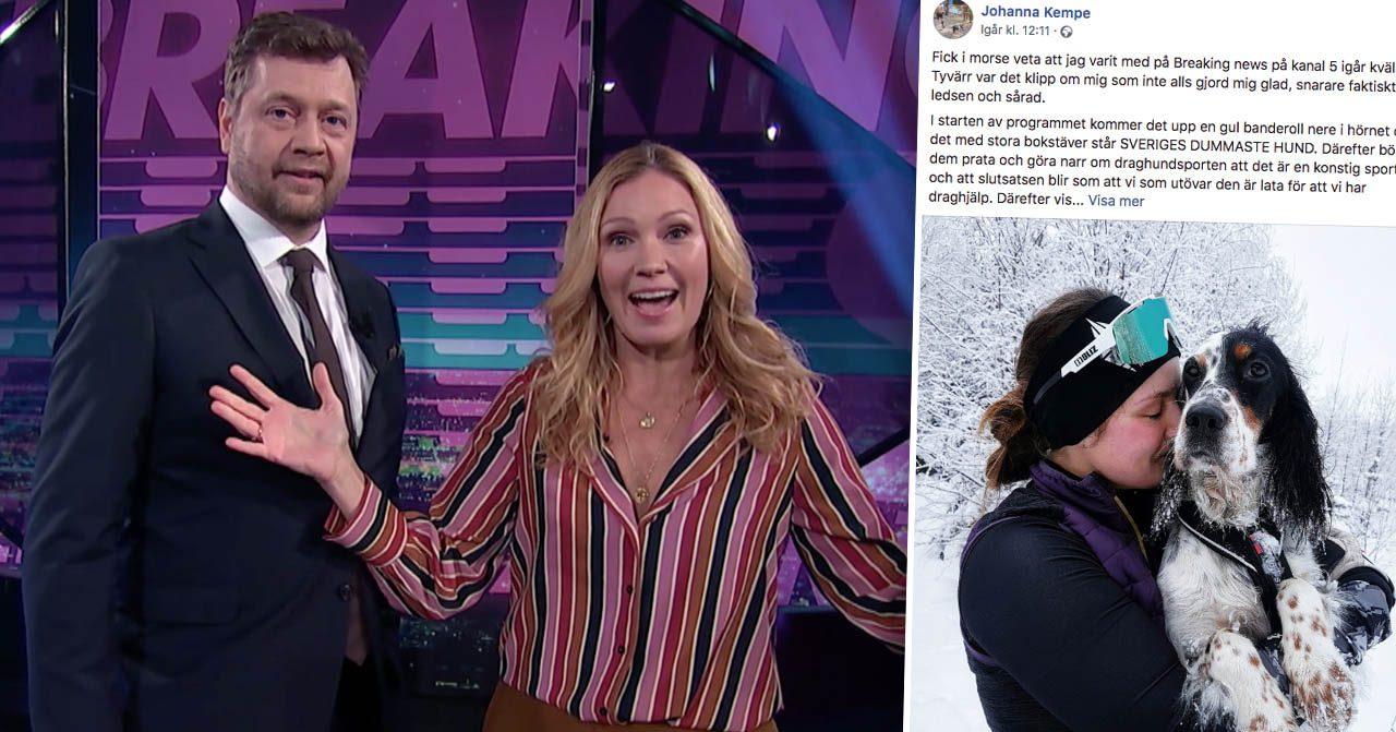 Kritiken mot Jessica Almenäs i Breaking news