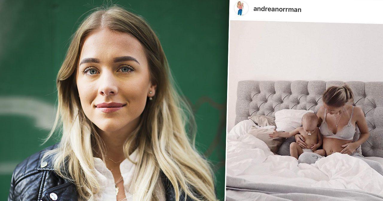 Andrea Norrmans gravidoro efter läkarens ord