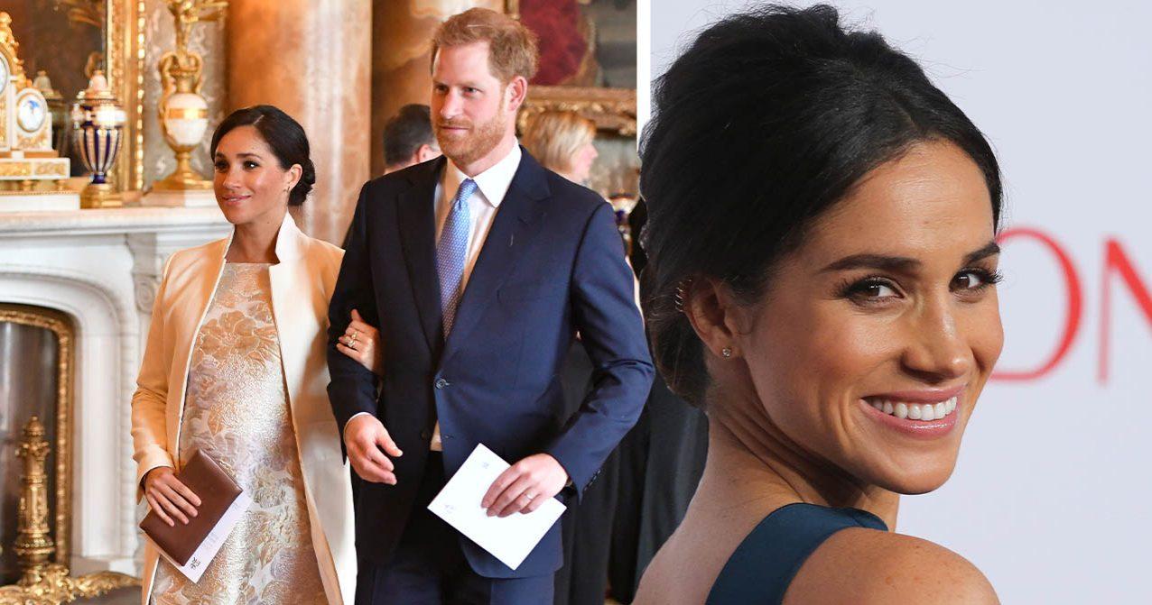 Meghan Markle promenerar med prins Harry
