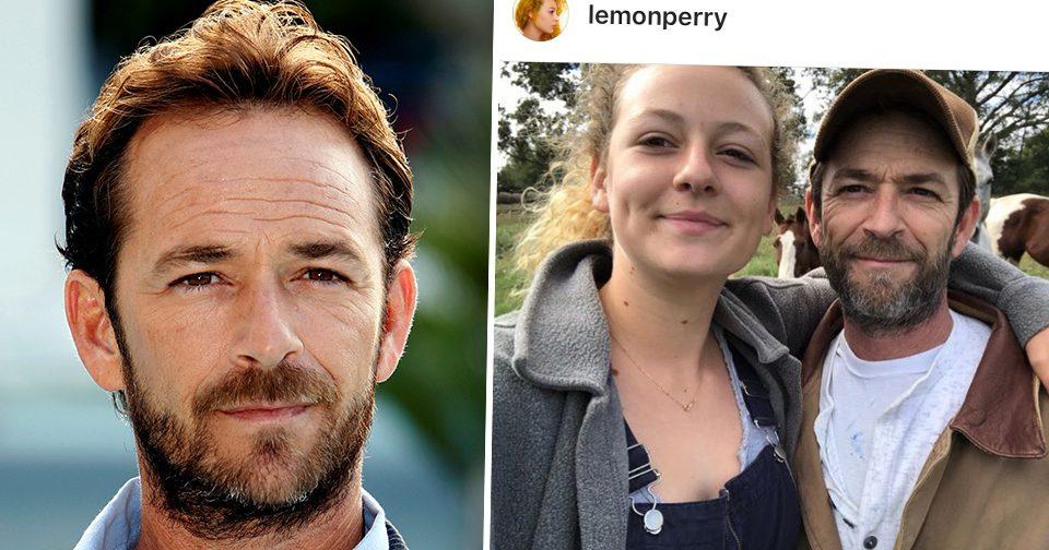 Luke Perry och dottern Sophie Perry