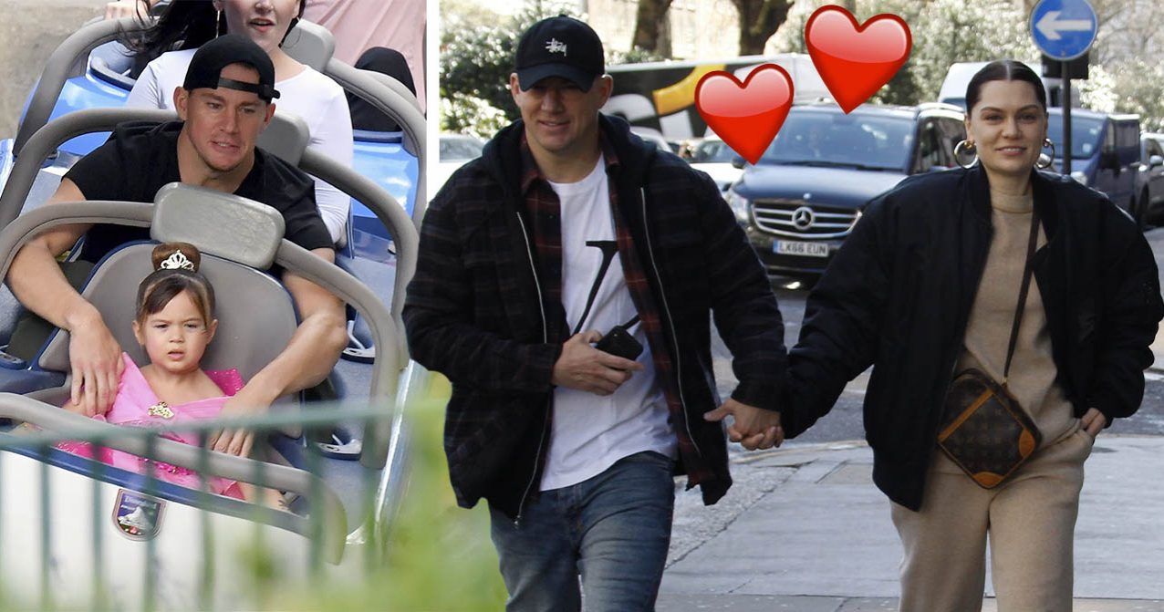 Jessie J håller hand med Channing Tatum