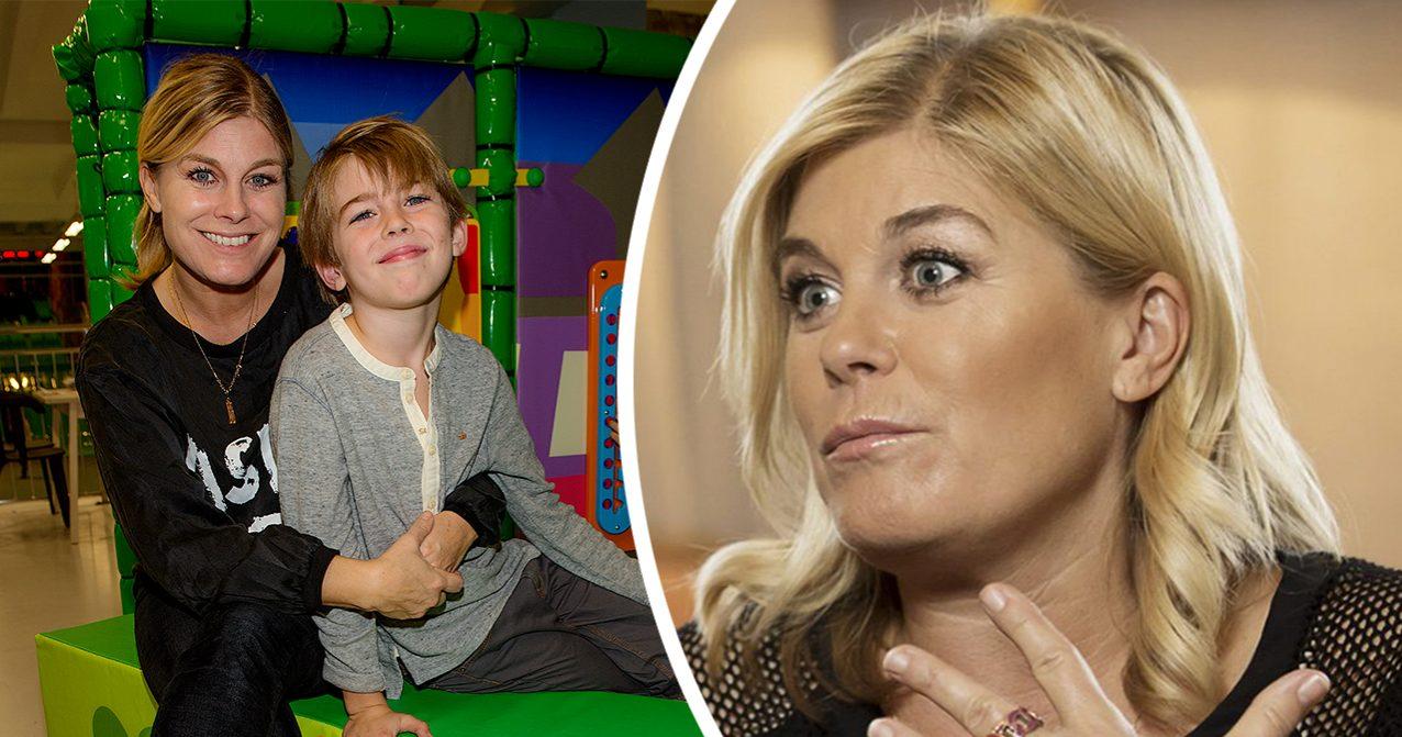 Pernilla Wahlgrens oro efter händelsen med 12-åriga sonen Theo