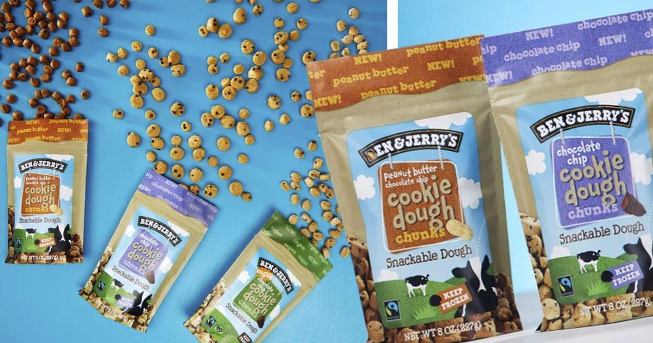 Ben & Jerry's lanserar Cookid dough chunks. Kakdegen utan glassen.