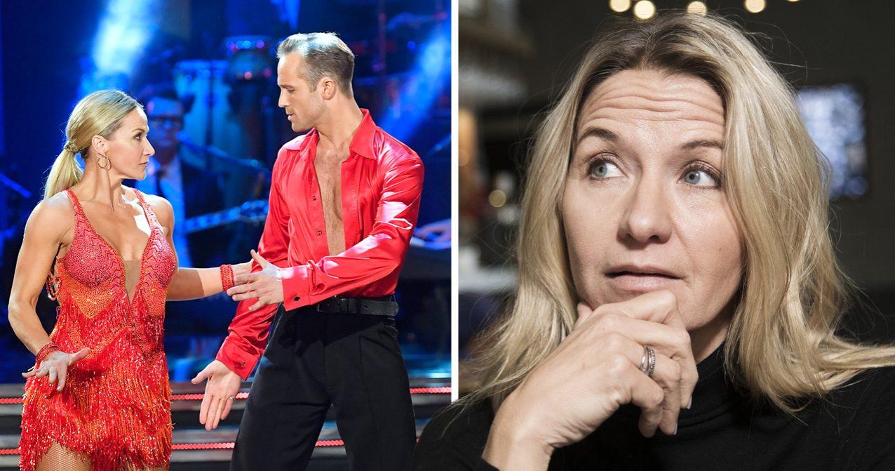 Kristin Kaspersen dansar för sin pappa Kjell Kaspersen i Let's dance