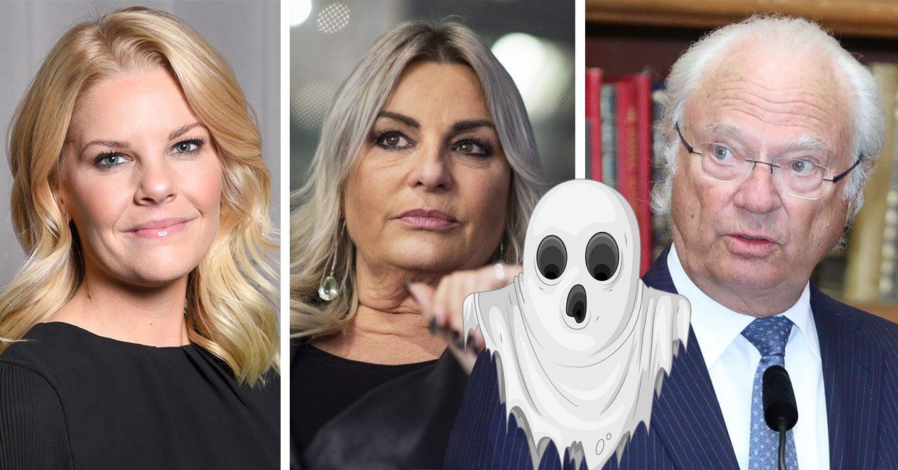 Camilla Backman, Helena Hysén och Carl XVI Gustaf tror på spöken