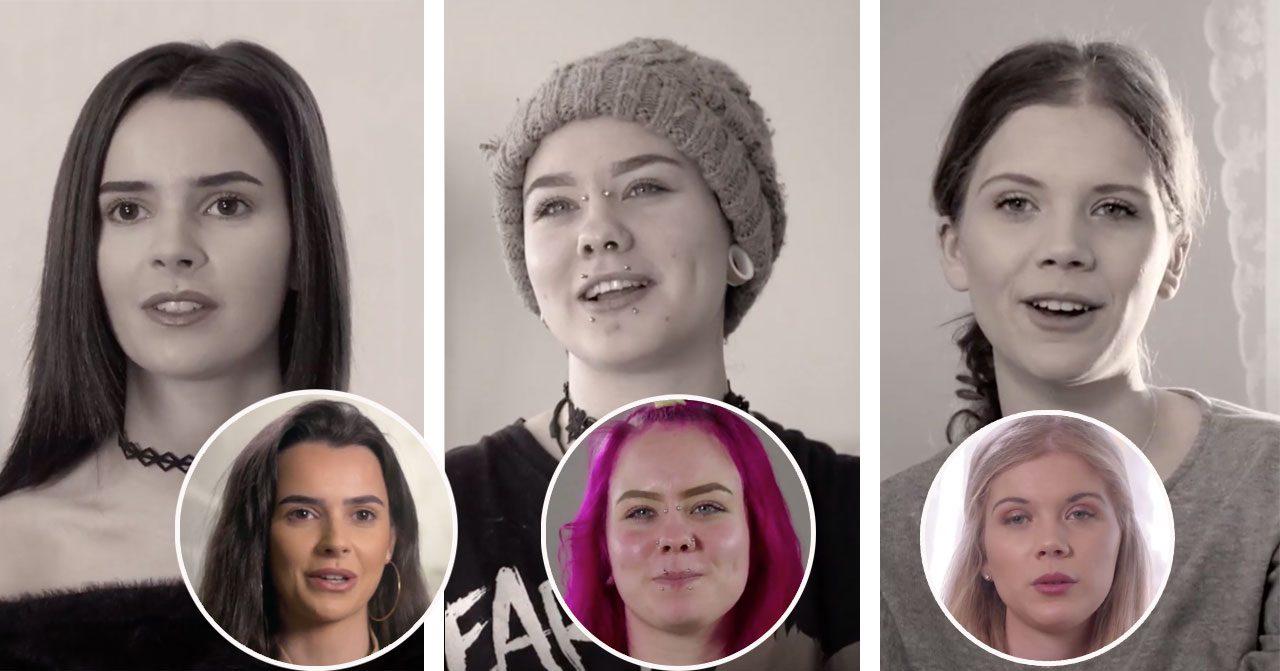 Sophie Andersen, Julia Mindell och Linn Andersson från Unga mammor