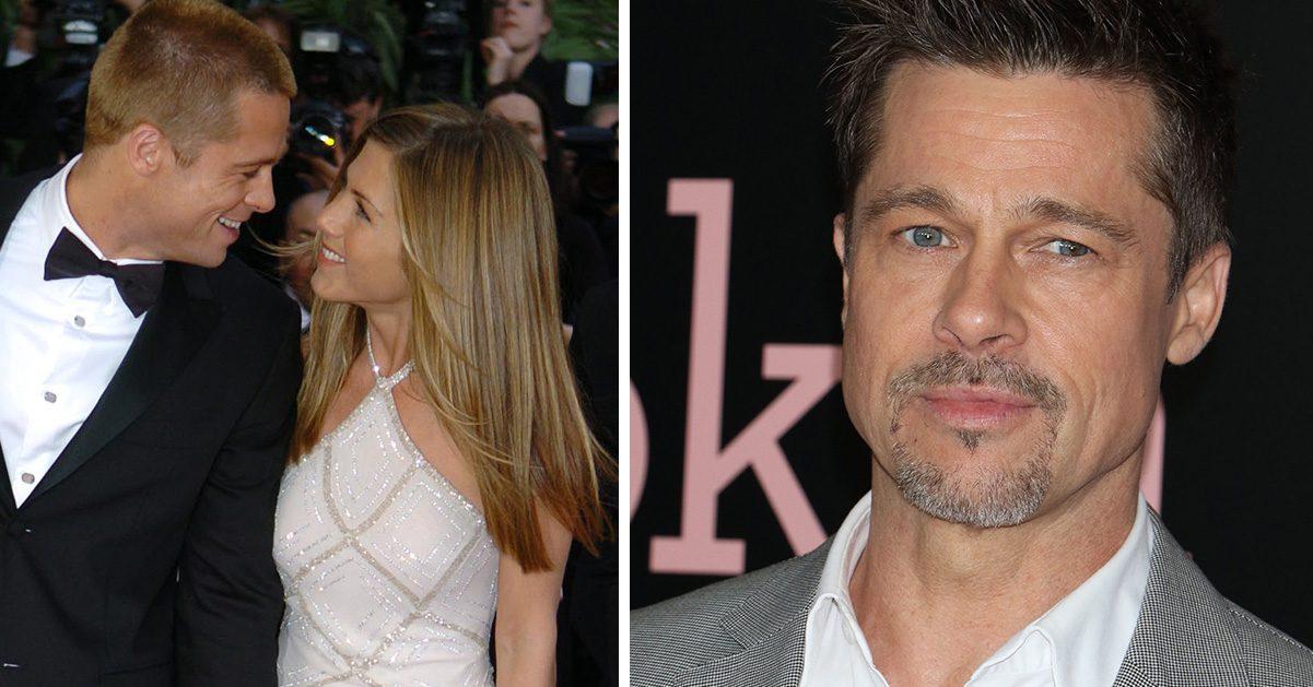 Gammal bild från röda mattan när Brad Pitt och Jennifer Aniston var ett gift par.