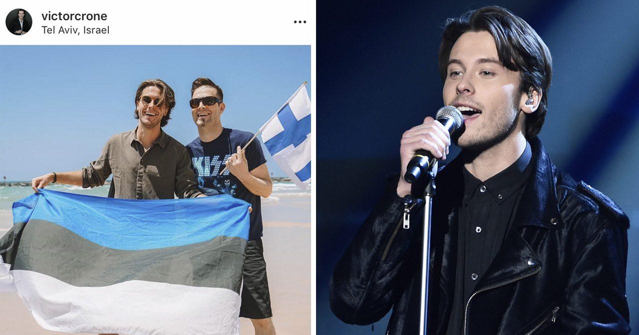 Victor Crone för Estland i Eurovision song contest 2019