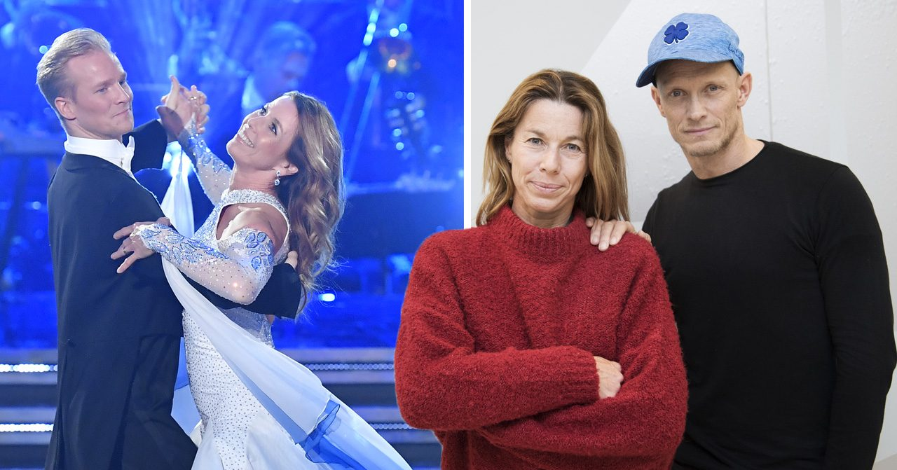 Magdalena Forsberg, Tobias Karlsson och Fredric Brunberg I let's dance