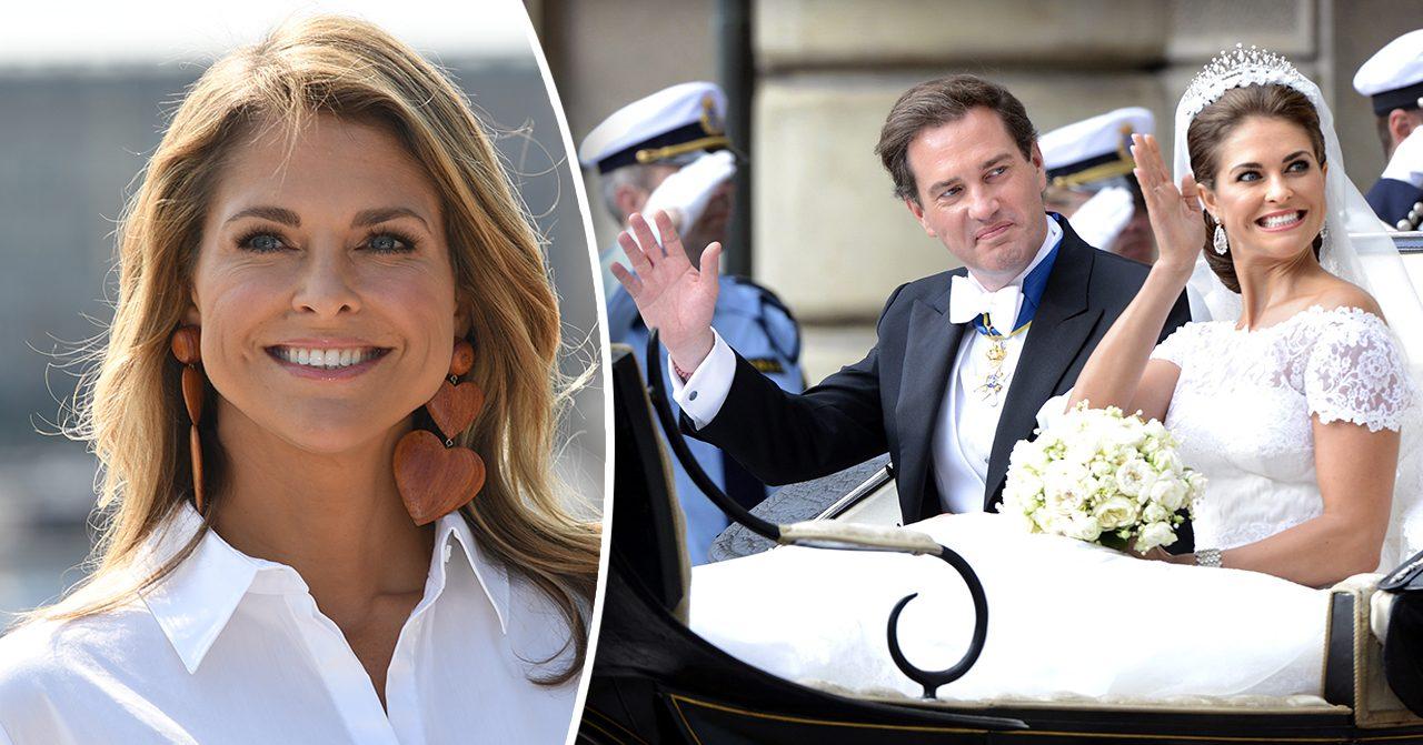 Prinsessan Madeleine och Chris O'Neills bröllopsdag
