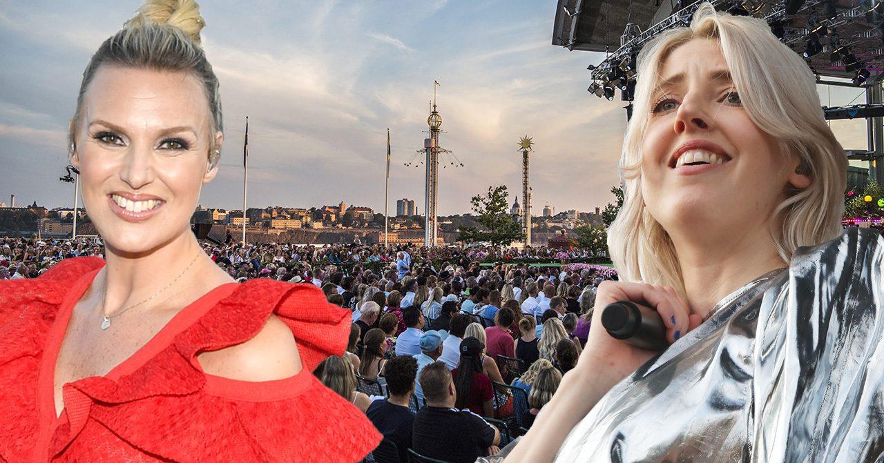 Sanna Nielsen och Veronica Maggio i Allsång på Skansen