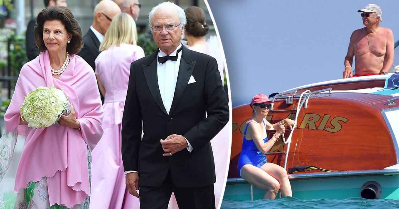 Kungen och drottningens semester på lyxbåt – se bilderna här